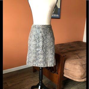 VINTAGE COLEBROOK & CO snakeskin leather skirt